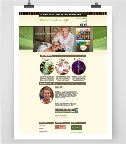 Wonderworks Healing Arts Web Design, Web Development for Oriental Medicine Practitioner Acupuncturist in La Jolla