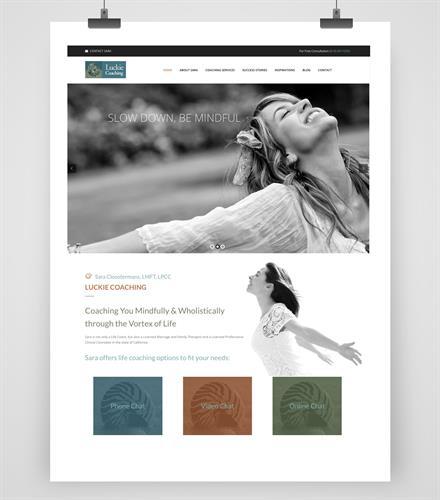 Luckie Coaching Website Design