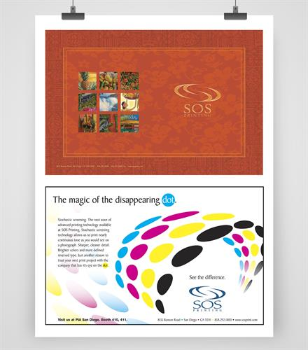 SOS Printing Graphic Design Collateral, Display Advertising