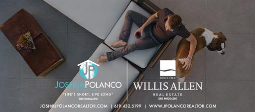 Josh Polanco, REALTOR®, DRE #02044318 - Willis Allen Real Estate