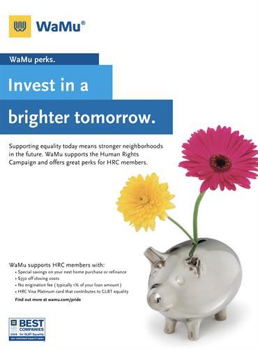 Print Advertisement, Client: Washington Mutual Bank