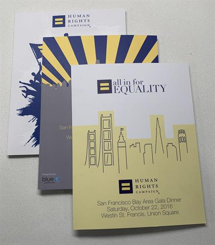 Program Booklet,  Client: Human Rights Campaign