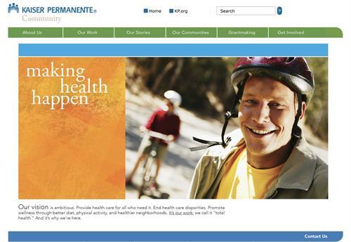 Website, Client: Kaiser Permanente