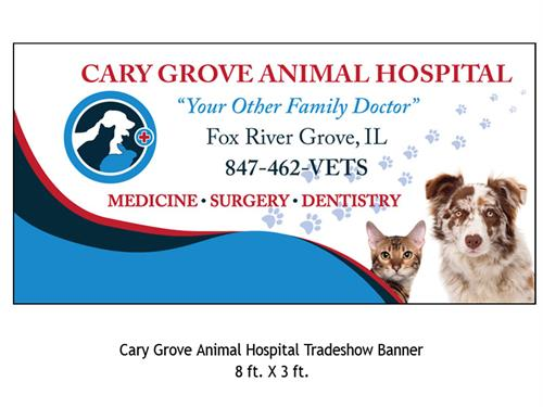 Cary Grove Animal Hospital Banner