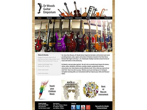 Dr. Woods Guitar Emporium (includes eCommerce section)