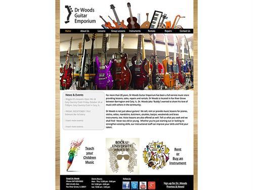 Dr. Woods Guitar Emporium (includes eCommerce section)
