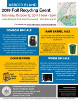 Fall 2019 Recycling Event