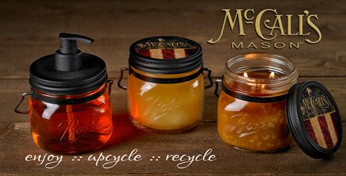 We have been selling McCalls Candles for 14 years!  Why not stop buy & pick up one of their new Mason Jar Candles.