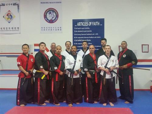 Kummooyeh Seminar, members from New York, West Virigina, Puerto Rico and others with our Instructor from Korea.