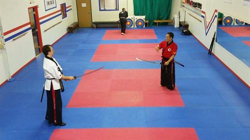 One on one training with my Instructor from Korea for the World Kummooyeh Federation