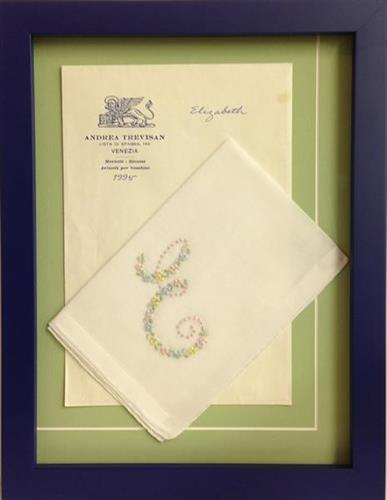 An antique hanky...a treasured heirloom to be shared and protected to last for future generations.