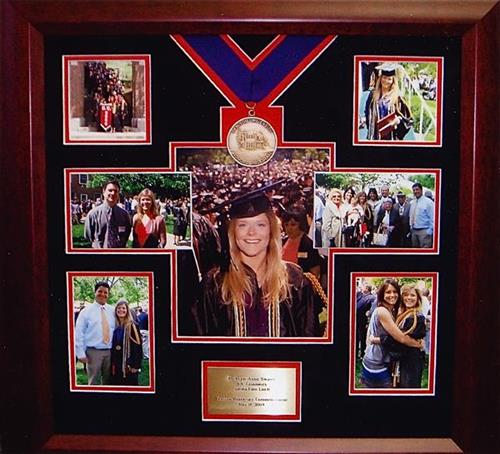 Graduation is an event not to be forgotten! Frame photos, honors, and other memorabilia together instead of stuffing them in a drawer to never be seen again.