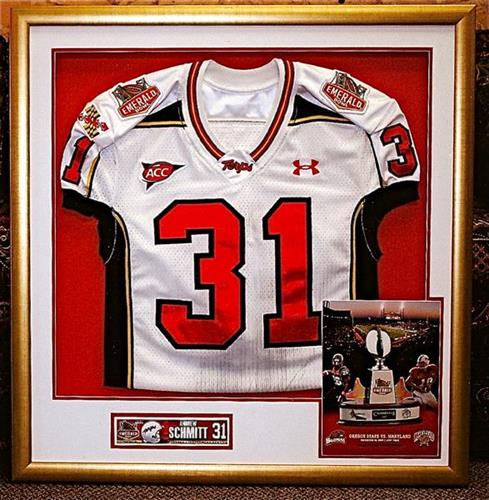 Jerseys, whether your kids or autographed pro...preserve them and proudly display for everyone to enjoy!