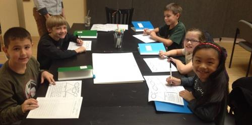 Young writers create stories at Write Local's workshops.