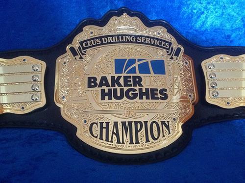 Baker Hughes Drilling Championship belt