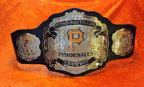 Pittsburgh Pirates Sales Team Championship belt