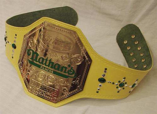 Nathan's Famous HotDog Eating Championship Mustard Yellow Belt