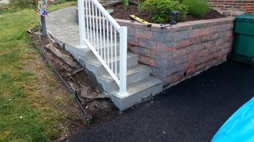 Steps & sidewalk- After