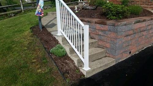 Steps & sidewalk- Before
