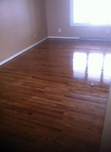 Hardwood floor repair & refinishing- After