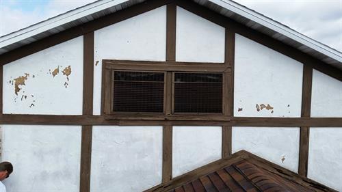 Exterior painting & caulking- Before