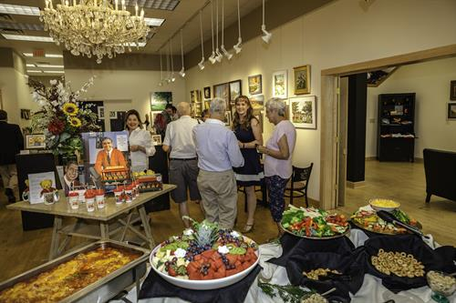 Reception at Latrobe Art Center. Photo courtesy of Rex Moyer, Westmoreland Photographers Society