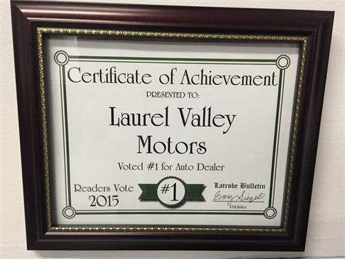 We are the proud recipient of the #1 Dealership in Latrobe! Thank you to the readers of the Latrobe Bulletin!