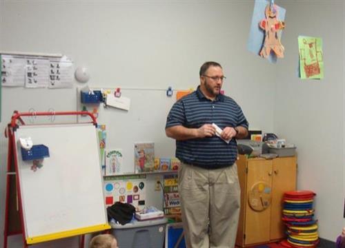Dr. Learn at Head Start Program for Children's Dental Health Month