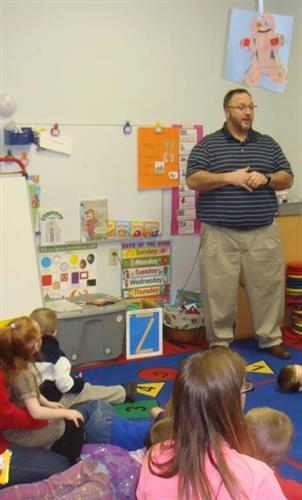 Dr. Learn at Head Start Program for Children's Dental Health Month