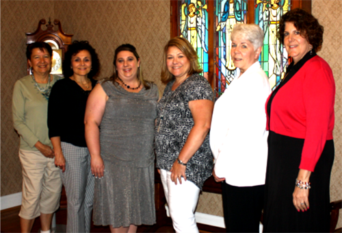 2016-17 Officers Jeanne VanHouten, Theresa Rusbosin, Nicole Purnell, Angela Apple, Karen Mowery, Mary Ann Urban