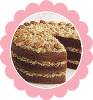 German Chocolate Cake W/Coconut Pecan Frosting