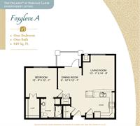 Floor Plan Fox Glove A Large one Bedroom Floor Plan