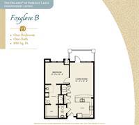 Floor Plan Fox Glove B Large one Bedroom Floor Plan