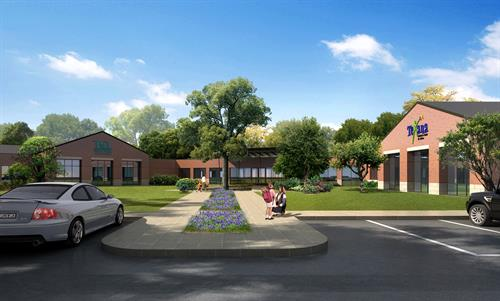 Fulshear Campus - Phase 2 and 3 rendering
