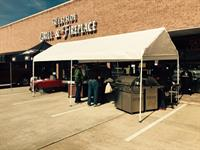 We LOVE doing large cookouts! We get to cook out on several of out products we sell.