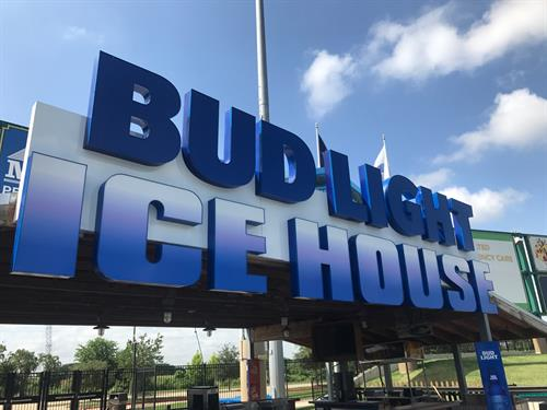 Lighted Channel Letters at BUD LIGHT ICEHOUSE at Constellation Field