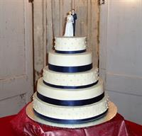 One of our five tier wedding cakes