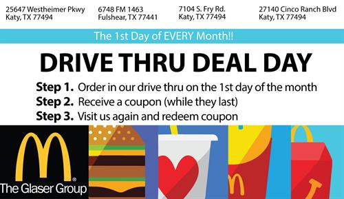 McDonald's Drive Thru Deal Day - Jun 1, 2018 - Fulshear Area ...