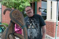 Gourd Artist Mike Peyton at our annual Art Walk.