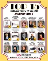 Came in at #5 in our KW Top 15 for Listings Taken
