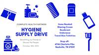 Hygiene Supply Drive at Complete Health Partners