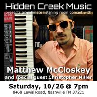 Live Music: Matthew McCloskey (with Christopher Miller)
