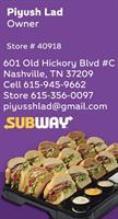 SUBWAY#40918 - Nashville