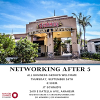 Anaheim Chamber After Hours Mixer - September 26th, 2019