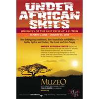 "Muzeo, ""Under African Skies"" Exhibit Poster"
