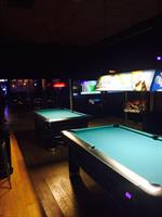 Game room has 2 pool tables, air hockey, Golden Tee, NBA, foosball and pinball machine