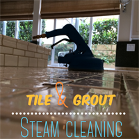 Grout steam cleaning