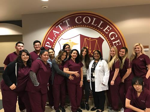 Diagnostic Sonography Students pose with Program Director, Ms. Mili.