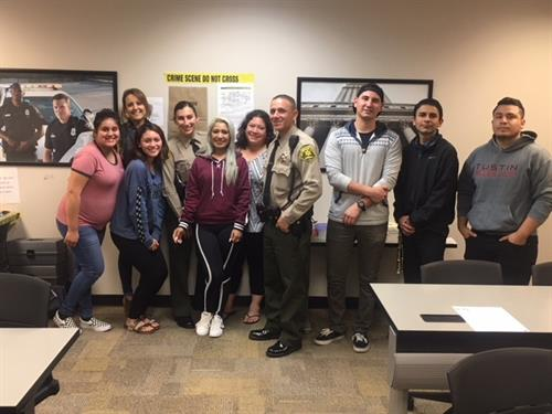 Criminal Justice students receive visitors from LA Sheriff Dept