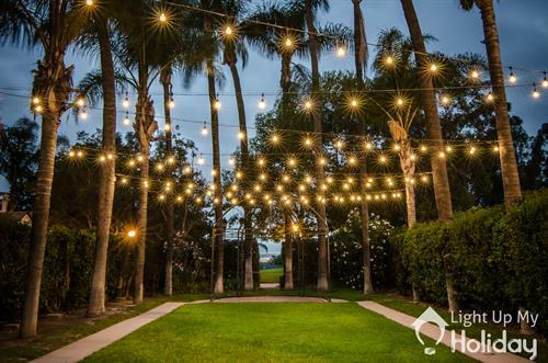 Backyard Patio String lighting